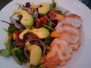 Salat med unghanebryst